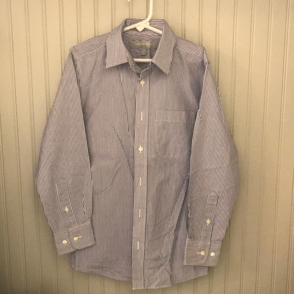 Nordstrom Other - Boys striped blue/white button down shirt